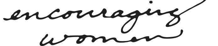 encouraging women logo words
